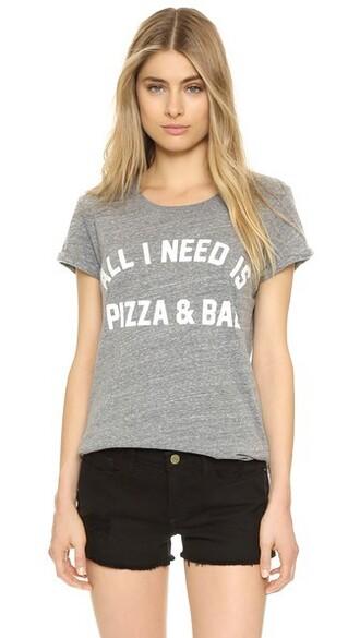 pizza bae grey top