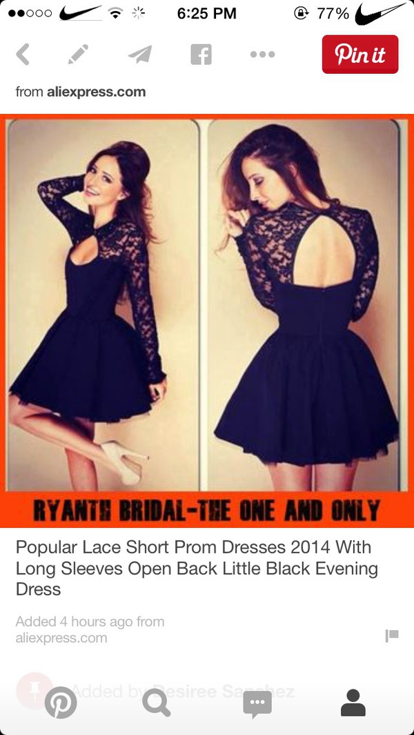 9228877d4b Alluring Round Neck Long Sleeve Solid Color Hollow Out Women's Dress ...