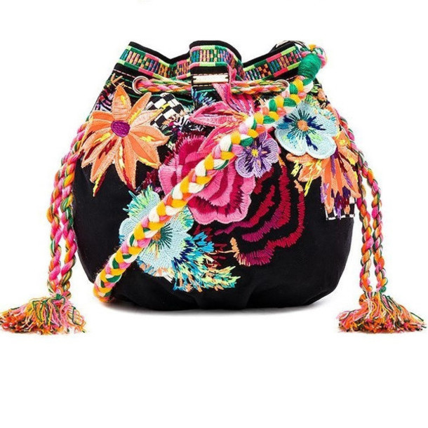 Bag Hand Embroidered Bag Agua Bendita Designer Handbag