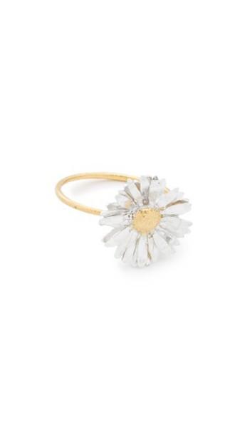 Alex Monroe Big Daisy Ring - Gold/Silver