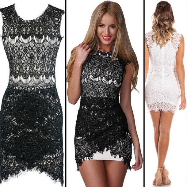 dress sexy sexy dress lace dress white dress bodycon dress