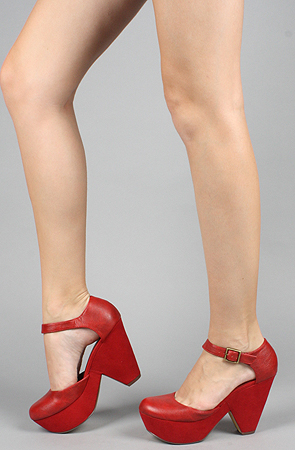 The glison shoe in red by *sole boutique
