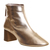 Office Jazz Hands Soft Mid Block Boots Rose Gold Leather - Ankle Boots