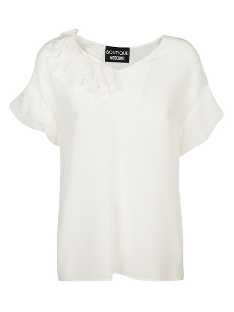 BOUTIQUE MOSCHINO blouse silk white top
