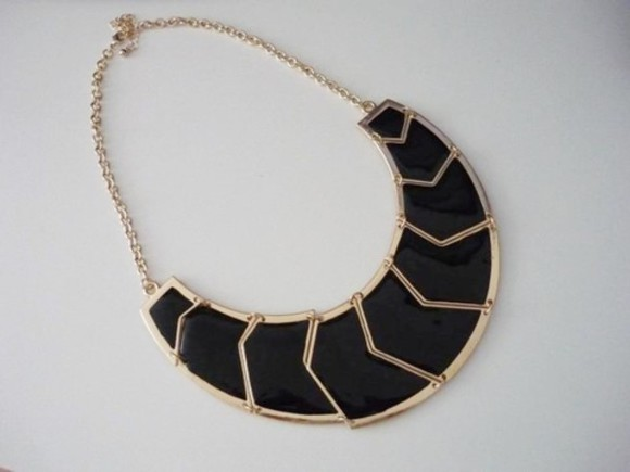necklace gold black jewels jewels