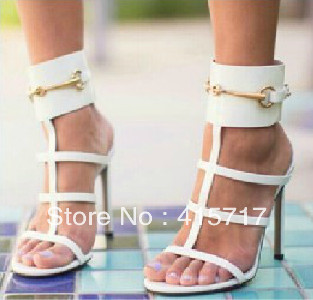 New Arrival Sexy Strappy Sandals Gladiator High Heel Leather Women Sandals Rome Style Fashion Summer Shoes-in Sandals from Shoes on Aliexpress.com