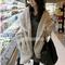 Fashion long sleeve asymmetric cardigan for women_45.79
