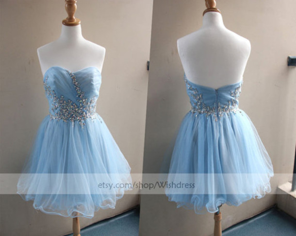 3d33aaee823 ice blue cocktail dress ice blue homecoming dress short formal dress  cocktail dress prom gown cocktail