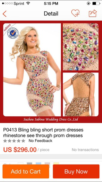 dress bling rhinestones see through dress heavy beaded prom dress