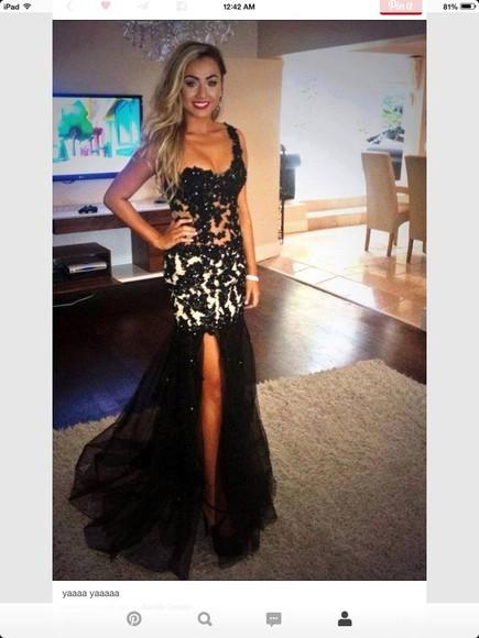 prom dress slit dress one shoulder mermaid
