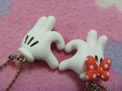 jewels,necklace,mickey mouse,minnie mouse,heart