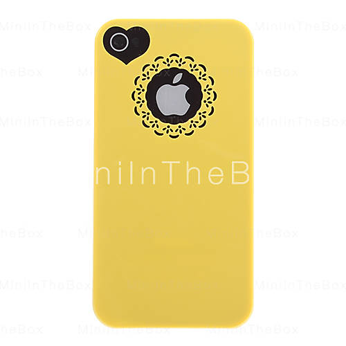 [EUR € 2.75] - Creux Sweet Heart dur et Cercle de cas de dos   Film écran pour iPhone 4/4S (couleurs assorties)