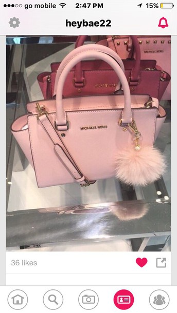 bag michael kors bags and purses handbag baby pink michael kors bag cute  tumblr i want 66e41f597dc2