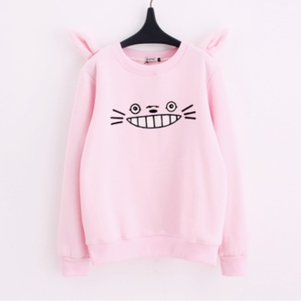 sweater jumper cats eyes pink pastel purple long daisy jumper knitted sweater long sleeves