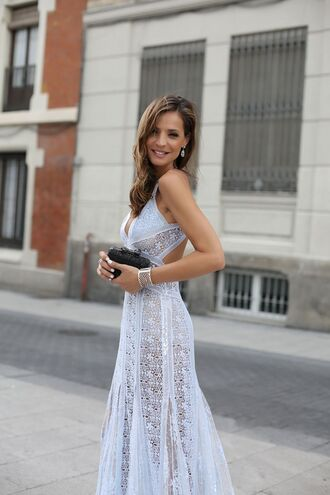lady addict blogger dress bag white dress cut-out dress lace dress romantic summer dress romantic dress