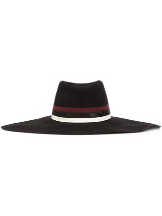 women hat cotton black wool