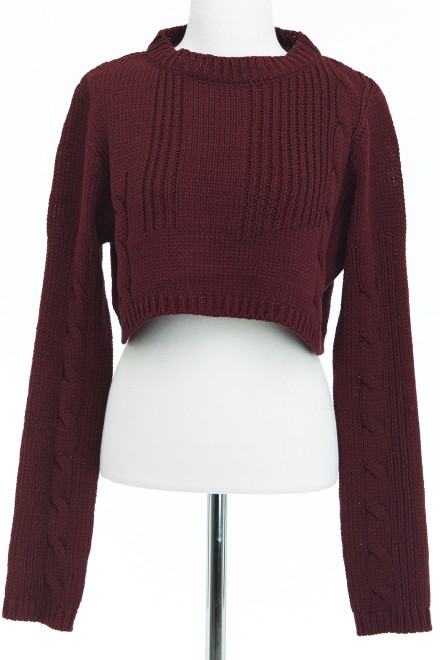 Bordeaux Cropped Sweater