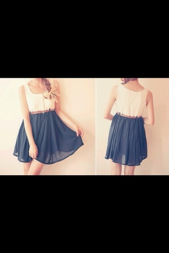 dress summer girl fashion blue and white