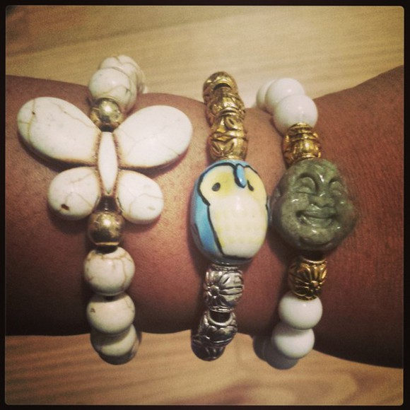 jewels butterfly jewelry owl bracelet buddha accessories