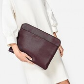 bag,laptop casse,prune,leather bag,leather,laptop bag,purple bag,charles and keith,back to school,school accessories,school bag