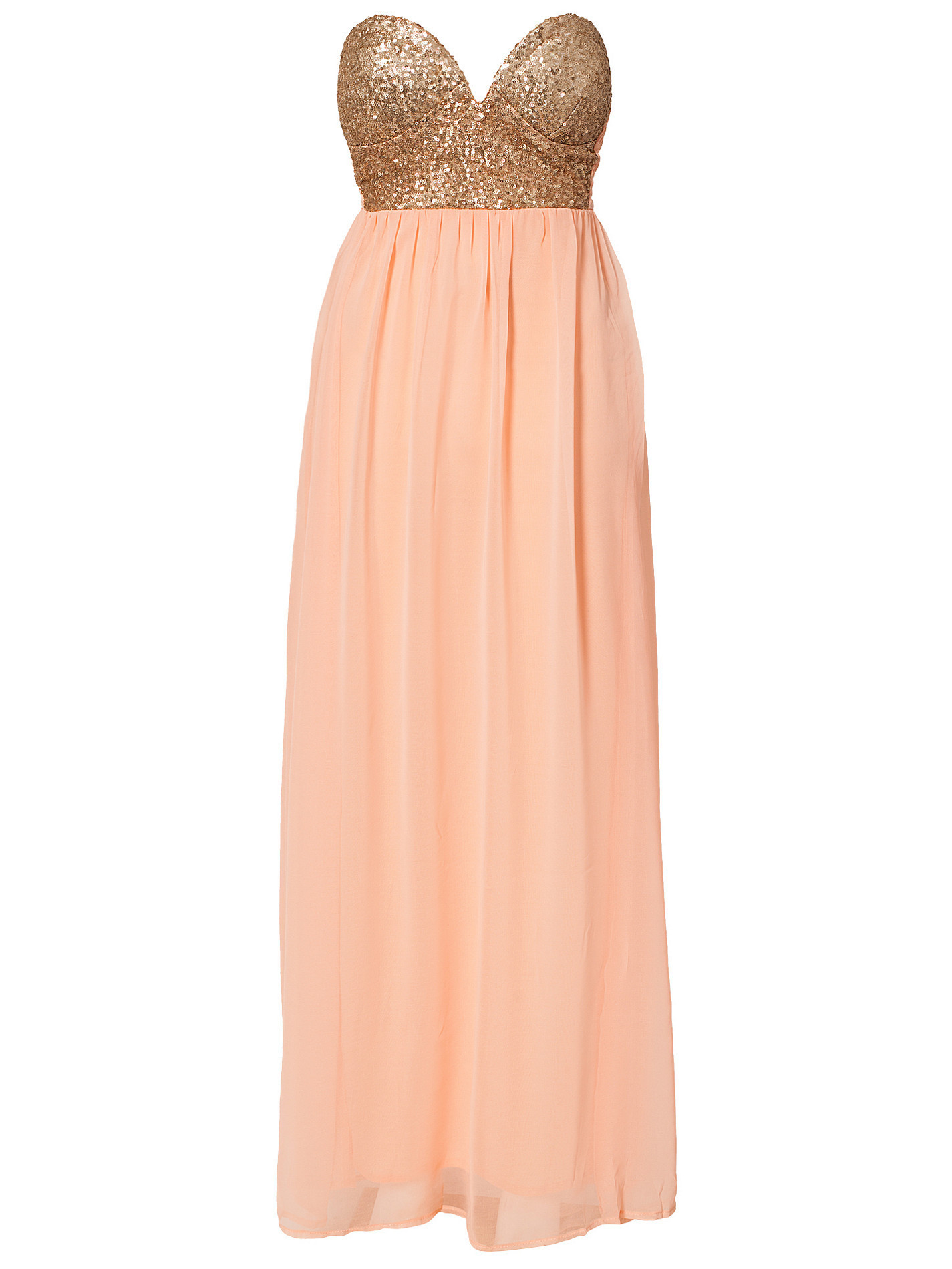 """glamster's paradise"" gold rose bandeau strapless maxi dress – glamzelle"