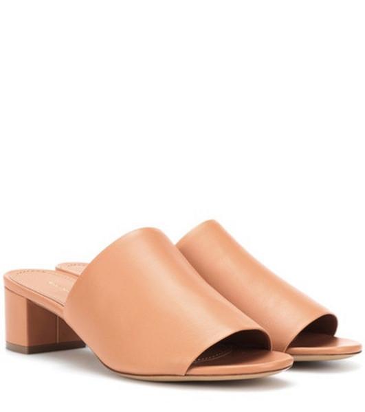 Mansur Gavriel 40mm leather sandals in brown