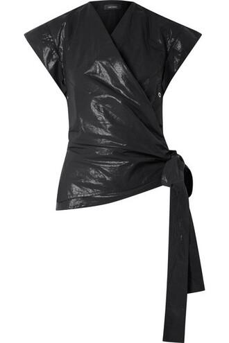 top wrap top cotton black