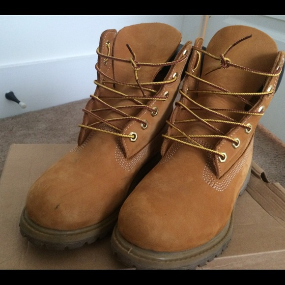 buy popular best shoes classic style 38% off Timberland Shoes - Tan timberland boots from Laura's ...