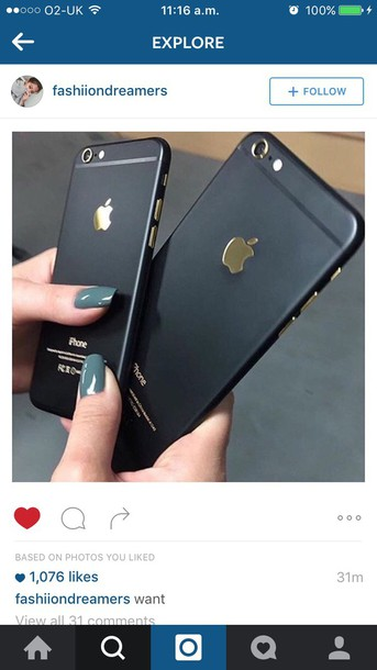 on sale e0f4c 546c1 iPhone 6 Matte Black / Gold Housing Back Cover Middle Frame Replacement  Assembly