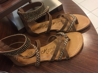 shoes style bling shoes fashion cute sandals nude sandals brown sandals