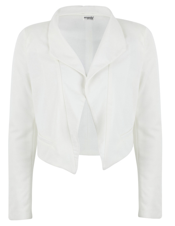 jacket white classy blazer cropped office outfits