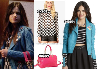 jacket aria montgomery pretty little liars lucy hale bag