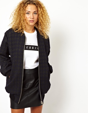 ASOS | ASOS Textured Dogtooth Bomber at ASOS