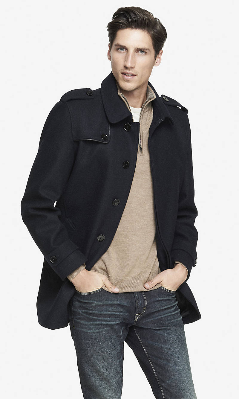 EXPRESS TECH WATER RESISTANT COMMUTER COAT from EXPRESS