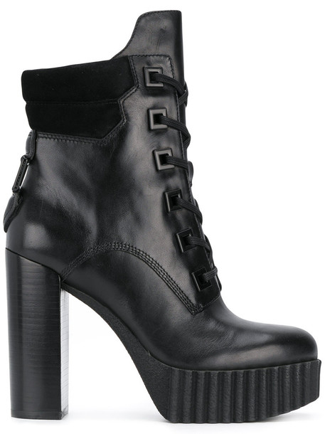 KENDALL+KYLIE women ankle boots leather black shoes