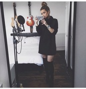 dress,jumper,black jumpers,loose fit sweater