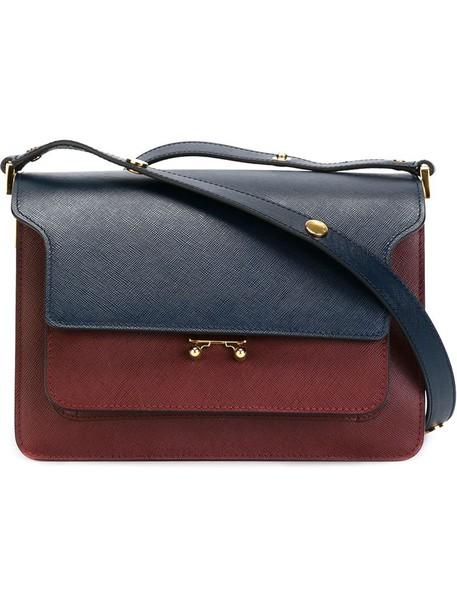 MARNI metal women bag shoulder bag leather red
