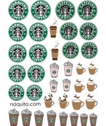 Starbucks Nail Tattoo