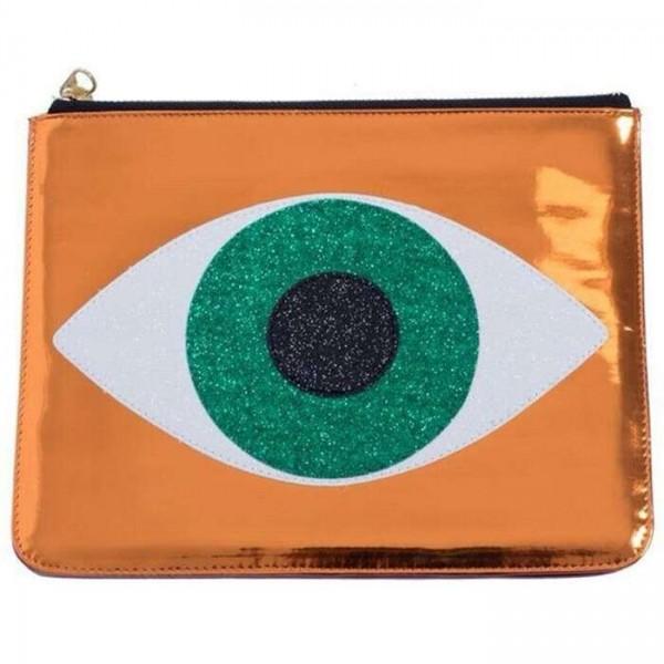 Emerald eye clutch