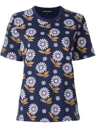 t-shirt shirt daisy blue top