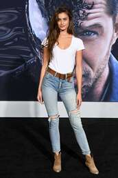 jeans,Taylor hill,model off-duty,denim,celebrity,top