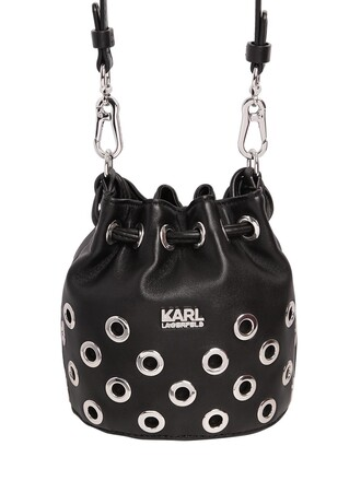 mini bag bucket bag leather black