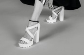 shoes,lights,white,heels,platform shoes,platform sandals,high heels,strappy heels,criss cross