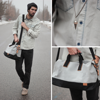 bobby raffin blogger mens accessories denim shirt menswear bag shirt shoes mens holdall mens messenger bag