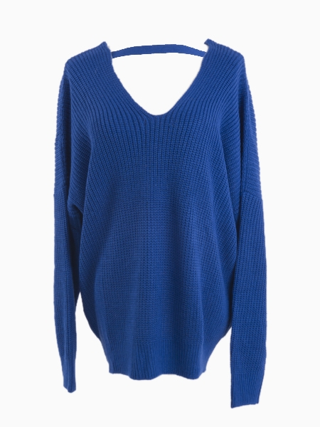Celebona V neck Jumper With Open Back | Choies