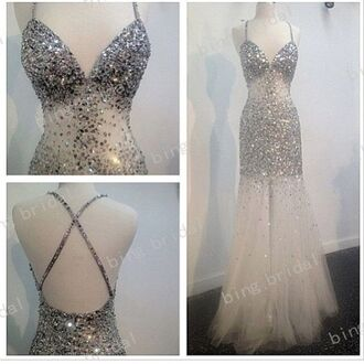 dress prom silver dress prom dress sexy dress party dress sexy party dresses sexy prom dress white dress formal party dresses classy dress open back dresses long dress long prom dress sparkly dress white prom dress cut-out dress bodycon dress blouse