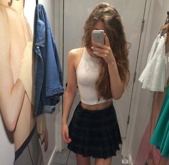 skirt preppy tartan check mini skirt pleated skirt school girl