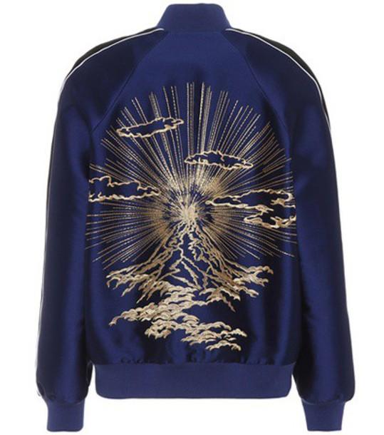 Stella McCartney jacket bomber jacket embroidered blue