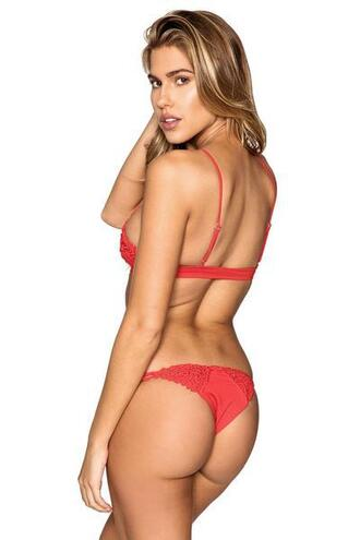 swimwear red skimpy bikini bottoms cheeky frankies bikini bikiniluxe