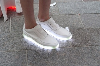 shoes colorful celebrity fashion glow neon light sneakers white shorts summer black pink dress bag converse